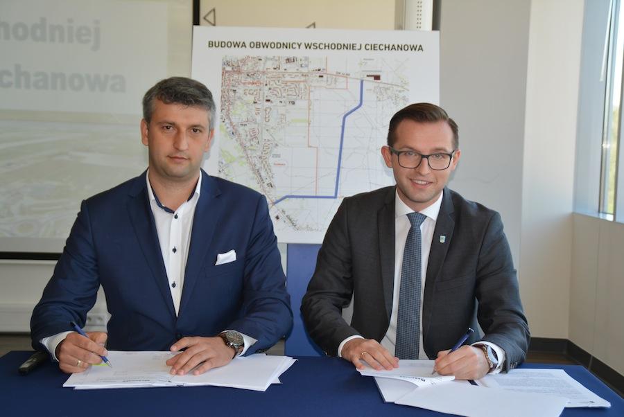 Umowa na budowę wschodniej obwodnicy Ciechanowa podpisana