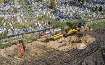 Ruszyła inwestycja w odwodnienie cmentarza komunalnego