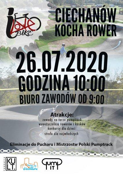 """""""Ciechanów kocha rower"""" – zawody na torze pumptrack"""