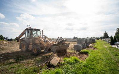 Kolejny etap rozbudowy cmentarza